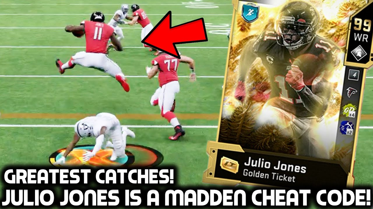 GOLDEN TICKET JULIO JONES IS A MADDEN CHEAT CODE! AMAZING TD'S! Madden 20 Ultimate Team