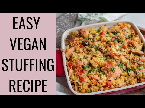 CLASSIC VEGAN STUFFING RECIPE | how to make stuffing vegan