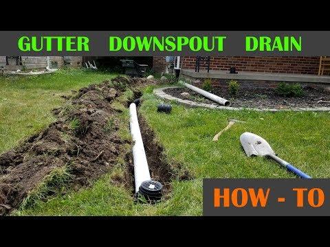 Underground Roof Gutter Drain Pipe