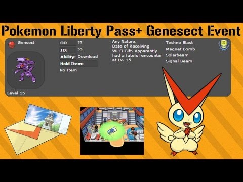 Pokemon black & white Free Genesect+Liberty Pass (Step by step guide.)  New Version