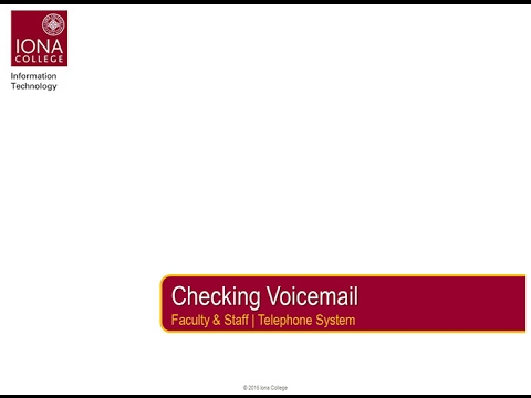 Checking Voicemail - Learning the Telephone System