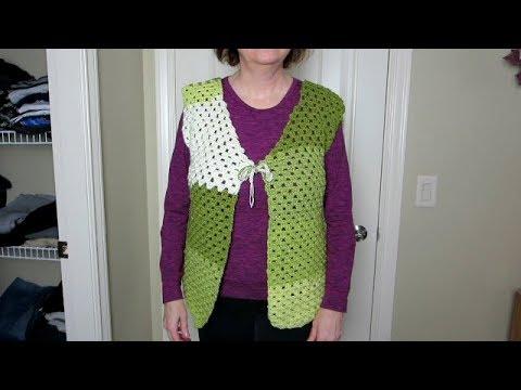 Crochet vest, step-by-step