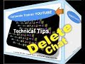 HOW TO DELETE  CHAT | YouTube 2016 / 2017 | DELETE CHAT Messages Facebook (NEW)