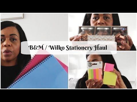 B&M / Wilko Stationery Haul 2018