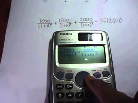 Internal Rate of Return (IRR) Calculation Using Casio ES Scientific Calculator