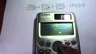 Internal Rate Of Return Irr Calculation Using Casio Es Scientific Cal