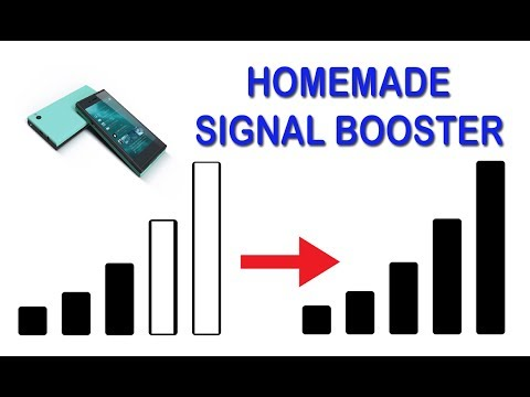 How to make homemade Network signal booster for mobile phone