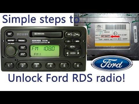 How to input radio code on Ford radios RDS (M series, 4000 5000 6000 6006 7000)  - Free radio code