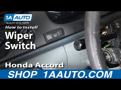 How To Install Replace Wiper Switch Stalk Honda Accord Acura CL TL 92-03 1AAuto.com