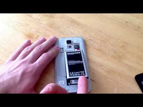 Samsung galaxy S5 - How to insert / remove the SIM Card