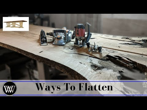 How to Flatten a Slab Several Ways | Dining Room Table