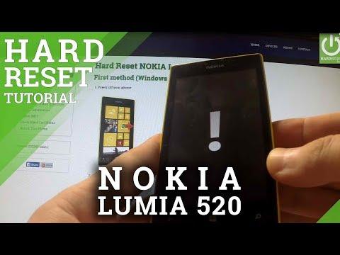 Hard Reset NOKIA Lumia 520 - bypass lock screen pattern in Nokia Lumia