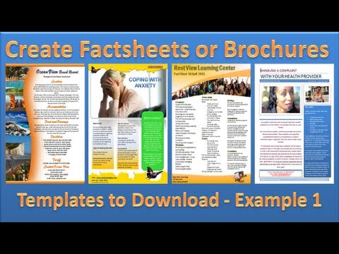 Make Brochure - How to Make Brochures in Microsoft Word 2010 - Single Page Example 1