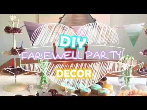 DIY Farewell Party Decor - Moving / Going Away / Goodbye Party!