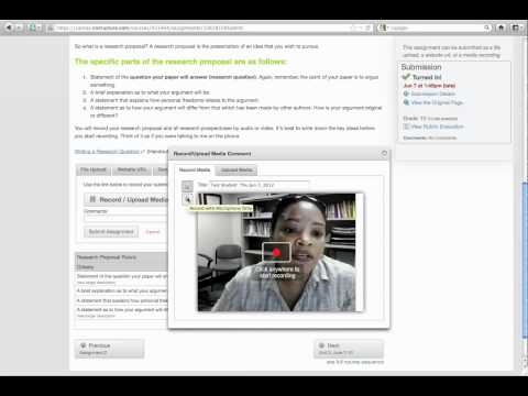 Recording Media for Assignments & Viewing Feedback in Canvas