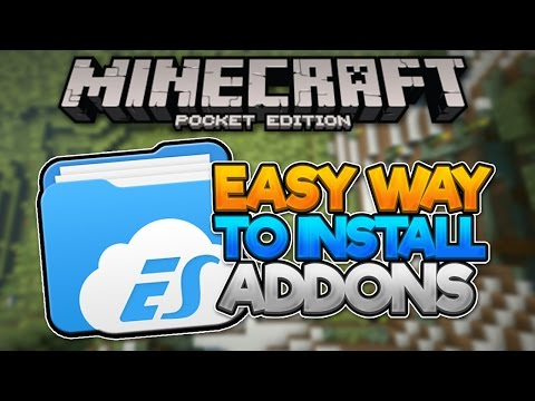 (Android) EASIEST WAY! - New Way To Install Addons MCPE 0.16.0 ! - Minecraft PE (Pocket Edition)