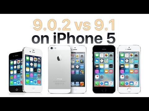 iPhone 5 iOS 9.1 vs iOS 9.0.2