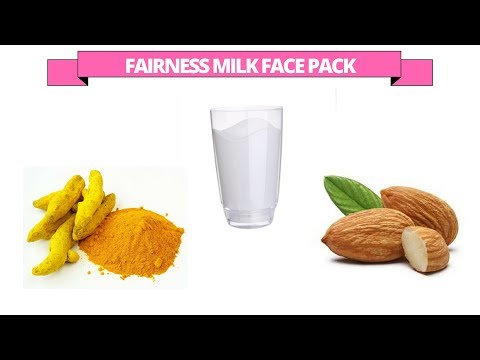 Fairness face pack / mask with Milk, Almonds and Turmeric powder