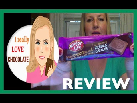 Enjoy Life Rice Milk Chocolate Bar Video Review: I Really Love Chocolate
