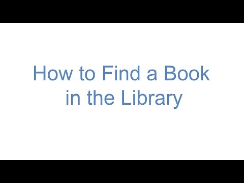 How to find a book in the library