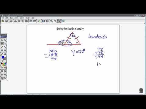 Isosceles Triangles and exterior angles