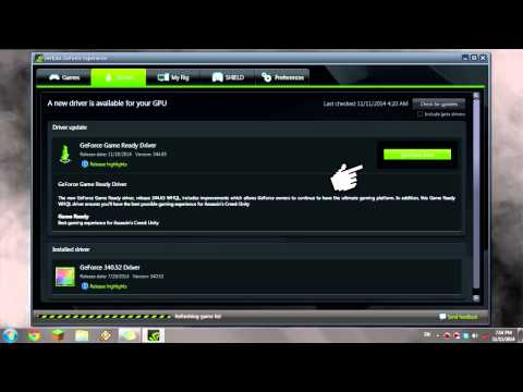 How to Update Nvidia Geforce Driver (Windows 7)