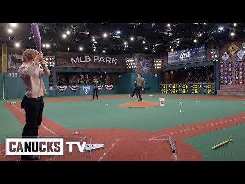 Boeser and Horvat Play Baseball at NHL Network Studios