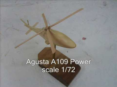 Airplanes Helicopters Scale Models in wood, hand made by Antonio Di Giacomo