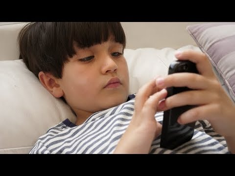 Kid Playing with Smartphone  | Stock Footage