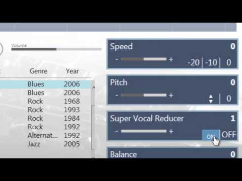 setting Eq vocal reducer in a song add notes riffmaster pro