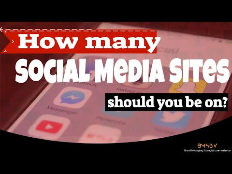 How many social media sites should an artist or band have today?