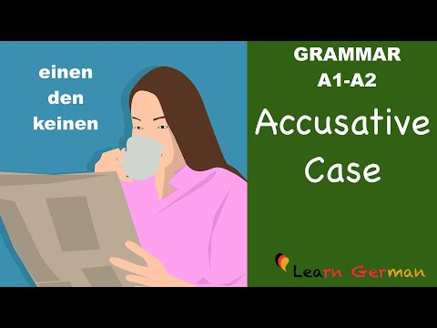 Learn German | German Grammar | Accusative case | Akkusativ | A1