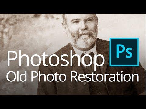 Photoshop Old Photo Restoration (Live Streamed)