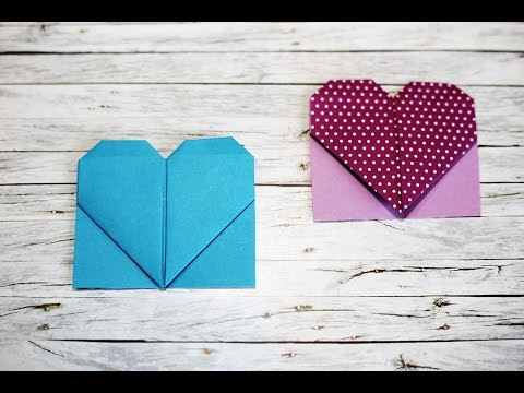 Origami Heart Bookmark - How to make origami heart bookmark - ที่คั่นหนังสือรูปหัวใจ