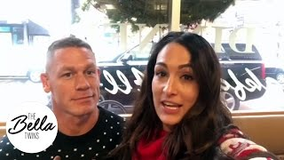 Holiday traditions with Nikki Bella and John Cena (Check out their ugly Christmas sweaters!)