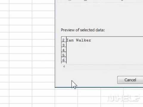How to split text across multiple cells in Excel