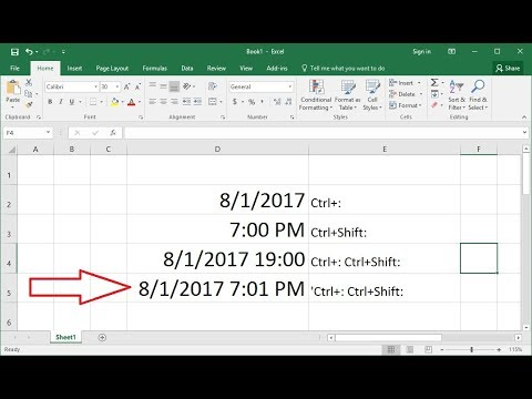 How to Insert Date & Time in Same Cell in MS Excel 2003-2016 (Easy)