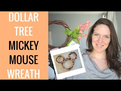 Dollar Tree Mickey Mouse Wreath DIY