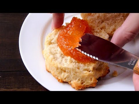 Quick and Easy Coconut Oil Drop Biscuits (Cooking sounds. No talking. No music.)