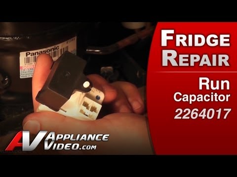Refrigerator Repair Starting components,Run Capacitor- Whirlpoo ,Kenmore,KitchenAid ,Roper# 2264017