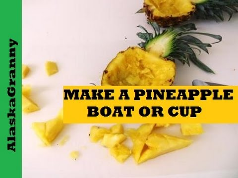 How To Make A Pineapple Boat or Bowl