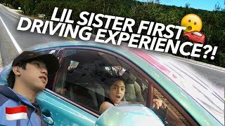 LIL SISTER FIRST TIME DRIVING?! | Ranz and Niana