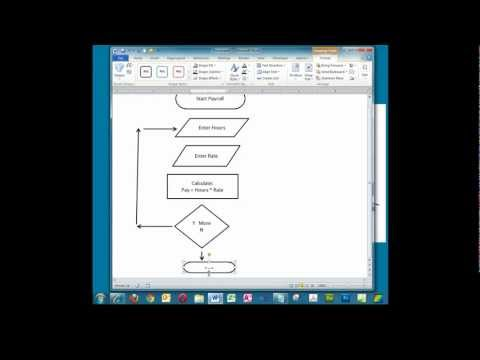 Creating a Simple Flowchart in Microsoft Word.