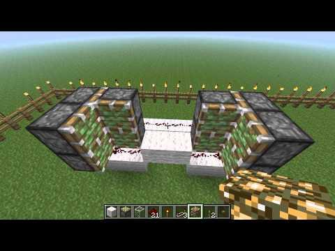 How to make a secret piston door in Minecraft