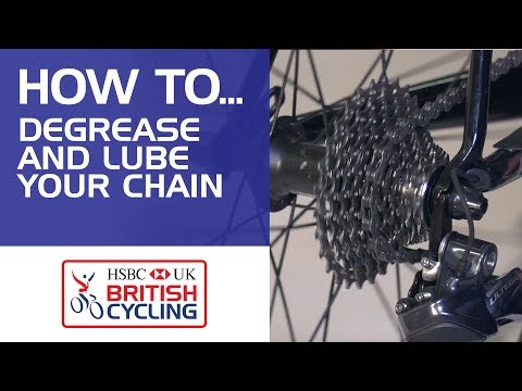 How to degrease and lube your bike chain