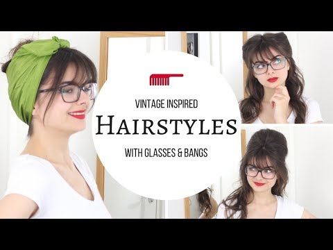 Vintage Inspired Hairstyles With Glasses   Cute & Easy