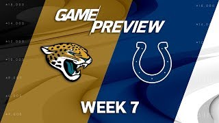 Jacksonville Jaguars vs. Indianapolis Colts | Week 7 Game Preview | NFL