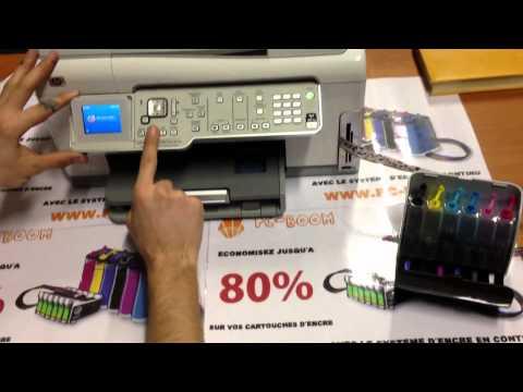 Installation d'un CISS compatible HP Photosmart C6180/C5180