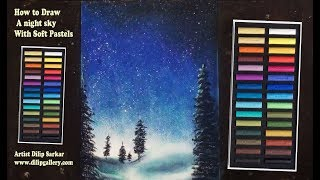 Drawing A Night Sky With Softpastels Videos 9videos Tv