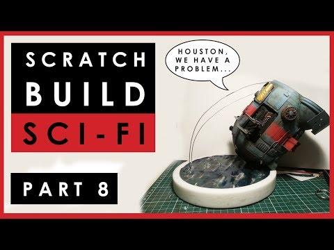 Scratch building 1/35 scale sci-fi model ship -  Part 8